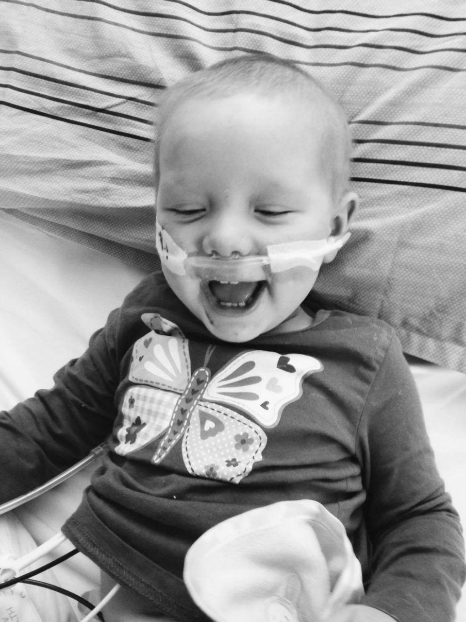 Evie was diagnosed with Neuroblastoma in August 2013. Photo: Supplied