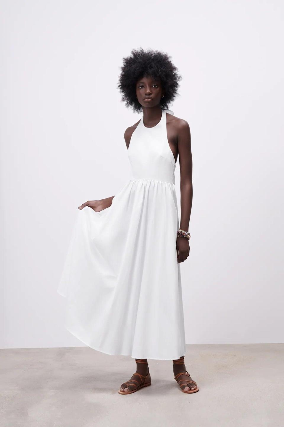 <p>The beach? A fancy brunch date? A dressy rooftop hang? This <span>Poplin Midi Dress</span> ($50) can do it all.</p>