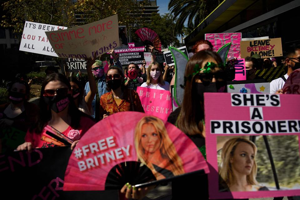 Controversy has surrounded the conservatorship sparking the #FreeBritney movement which her dad has dismissed as fans' conspiracy theory (AFP via Getty Images)
