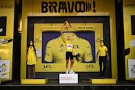 """<p>We've made our <a href=""""https://www.bicycling.com/tour-de-france/g22583981/tour-de-france-predictions/"""" rel=""""nofollow noopener"""" target=""""_blank"""" data-ylk=""""slk:bold predictions"""" class=""""link rapid-noclick-resp"""">bold predictions</a> and took a guess at the top <a href=""""https://www.bicycling.com/tour-de-france/g22063470/tour-de-france-riders/"""" rel=""""nofollow noopener"""" target=""""_blank"""" data-ylk=""""slk:riders to watch"""" class=""""link rapid-noclick-resp"""">riders to watch</a>, but the truth is that the 2020 <a href=""""https://www.bicycling.com/tour-de-france/"""" rel=""""nofollow noopener"""" target=""""_blank"""" data-ylk=""""slk:Tour de France"""" class=""""link rapid-noclick-resp"""">Tour de France</a> is anyone's for the taking. Here, we'll keep you updated on who's winning the race at any given moment.</p><p><a class=""""link rapid-noclick-resp"""" href=""""https://www.bicycling.com/tour-de-france/a33807136/2020-tour-de-france-results/"""" rel=""""nofollow noopener"""" target=""""_blank"""" data-ylk=""""slk:Full Results From Every Stage"""">Full Results From Every Stage</a> <a class=""""link rapid-noclick-resp"""" href=""""https://www.bicycling.com/tour-de-france/a21763983/watch-tour-de-france/"""" rel=""""nofollow noopener"""" target=""""_blank"""" data-ylk=""""slk:How to Watch"""">How to Watch</a> <a class=""""link rapid-noclick-resp"""" href=""""https://www.letour.fr/en/rankings"""" rel=""""nofollow noopener"""" target=""""_blank"""" data-ylk=""""slk:Full Leaderboard"""">Full Leaderboard</a></p>"""
