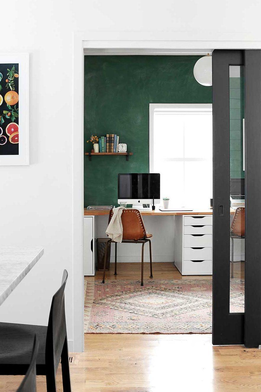 <p>Whether you choose a rich accent wall color like hunter green or navy, you're sure to make your space more warm and inviting. <br></p>
