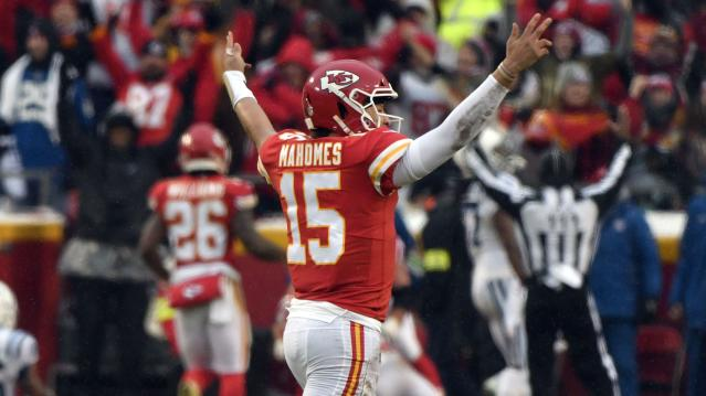 Patrick Mahomes was an unfair fantasy weapon in 2018. How early is too early next year? (AP)