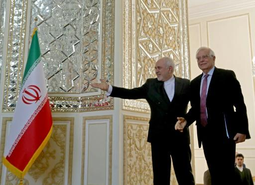Top EU diplomat Josep Borrell's visit to Iran began with a meeting with Foreign Minister Mohammad Javad Zarif