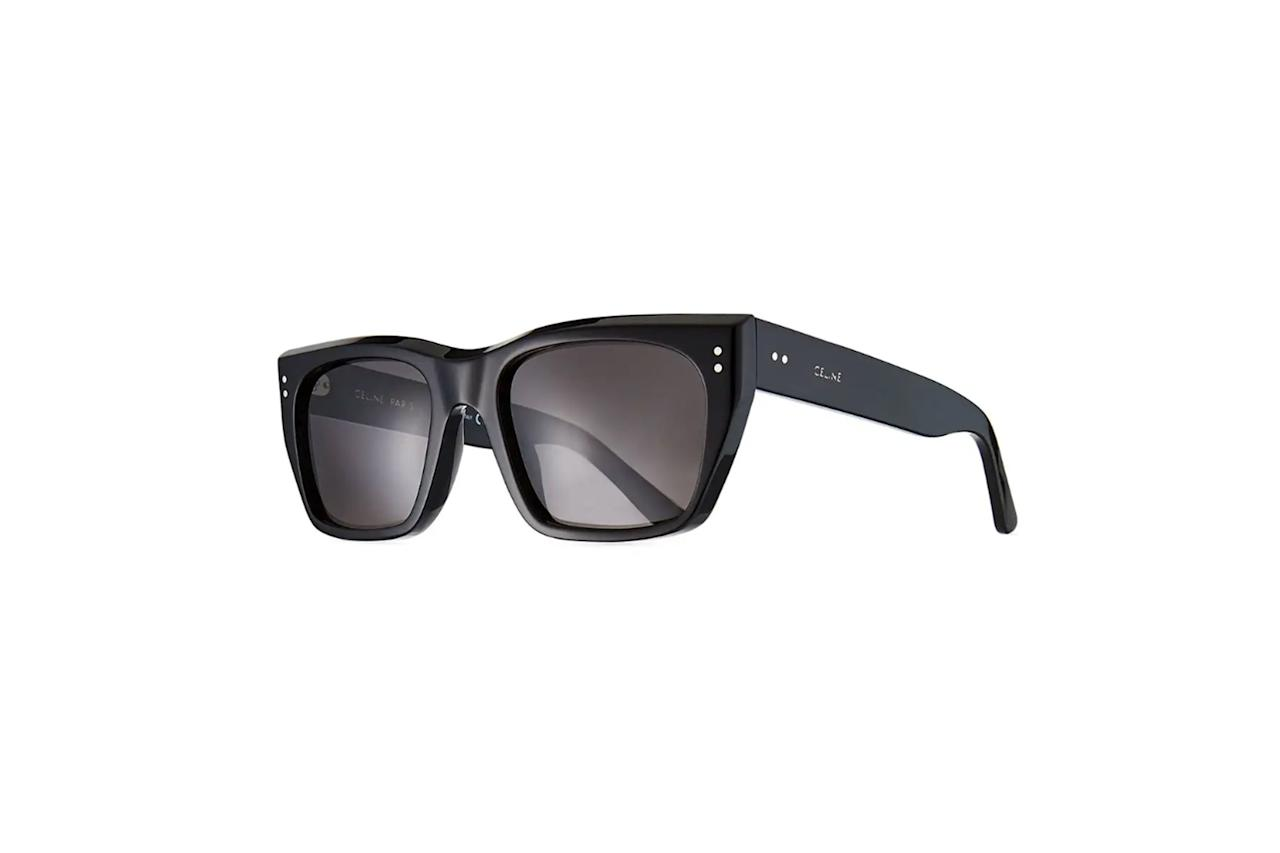 """Hedi Slimane doesn't reinvent the wheel—he just makes it impossibly sexy. —Sam Schube $420, Bergdorf Goodman. <a href=""""https://www.bergdorfgoodman.com/p/celine-mens-square-acetate-sunglasses-prod152510008?parentId=cat250904&icid=&searchType=EndecaDrivenCat&rte=%252Fcategory.service%253FitemId%253Dcat250904%2526pageSize%253D30%2526Nao%253D60%2526Ns%253DPCS_SORT%2526refinements%253D&eItemId=prod152510008&cmCat=product"""">Get it now!</a>"""
