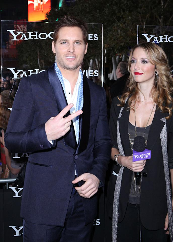 "Peter Facinelli is interviewed by Yahoo! Movies at the red carpet premiere for ""The Twilight Saga: Breaking Dawn – Part 1"" in Los Angeles, CA. (Photo by Nelson Balanton/Yahoo!)"