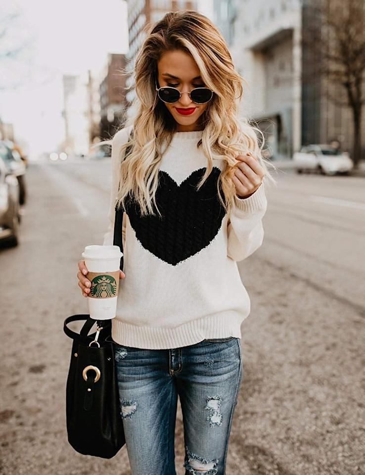 "<p>How cute is this <a href=""https://www.popsugar.com/buy/Shermie-Pullover-Heart-Sweater-517017?p_name=Shermie%20Pullover%20Heart%20Sweater&retailer=amazon.com&pid=517017&price=29&evar1=fab%3Aus&evar9=46895215&evar98=https%3A%2F%2Fwww.popsugar.com%2Ffashion%2Fphoto-gallery%2F46895215%2Fimage%2F46895852%2FShermie-Pullover-Heart-Sweater&list1=shopping%2Camazon%2Csweaters%2Cwinter%20fashion&prop13=mobile&pdata=1"" rel=""nofollow"" data-shoppable-link=""1"" target=""_blank"" class=""ga-track"" data-ga-category=""Related"" data-ga-label=""https://www.amazon.com/shermie-Pullover-Sweaters-Crewneck-Knitted/dp/B07G94LJ2X/ref=sr_1_29?crid=3OY3YH636AYIJ&amp;dchild=1&amp;keywords=sweaters%2Bfor%2Bwomen&amp;qid=1573672903&amp;sprefix=sweaters%2Bf%2Caps%2C205&amp;sr=8-29&amp;th=1&amp;psc=1"" data-ga-action=""In-Line Links"">Shermie Pullover Heart Sweater</a> ($29)?</p>"