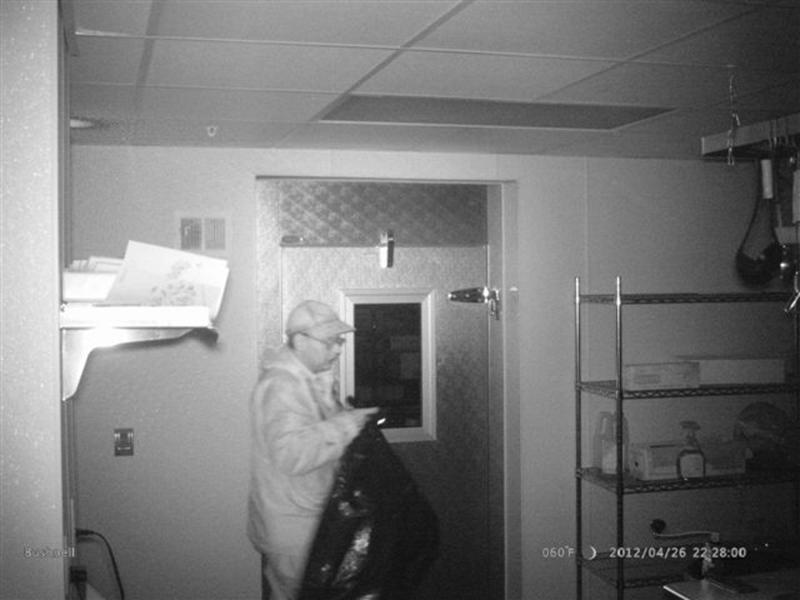 Christopher Knight is shown in this 2012 surveillance photo from a private dwelling break-in released by Maine State Police on April 10, 2013. After almost three decades of living like a hermit near a pond in central Maine, where he supported himself by stealing food from nearby camps, a 47-year-old man was arrested last week, police said on Tuesday. REUTERS/Maine State Police/Handout (UNITED STATES - Tags: CRIME LAW) FOR EDITORIAL USE ONLY. NOT FOR SALE FOR MARKETING OR ADVERTISING CAMPAIGNS. THIS IMAGE HAS BEEN SUPPLIED BY A THIRD PARTY. IT IS DISTRIBUTED, EXACTLY AS RECEIVED BY REUTERS, AS A SERVICE TO CLIENTS