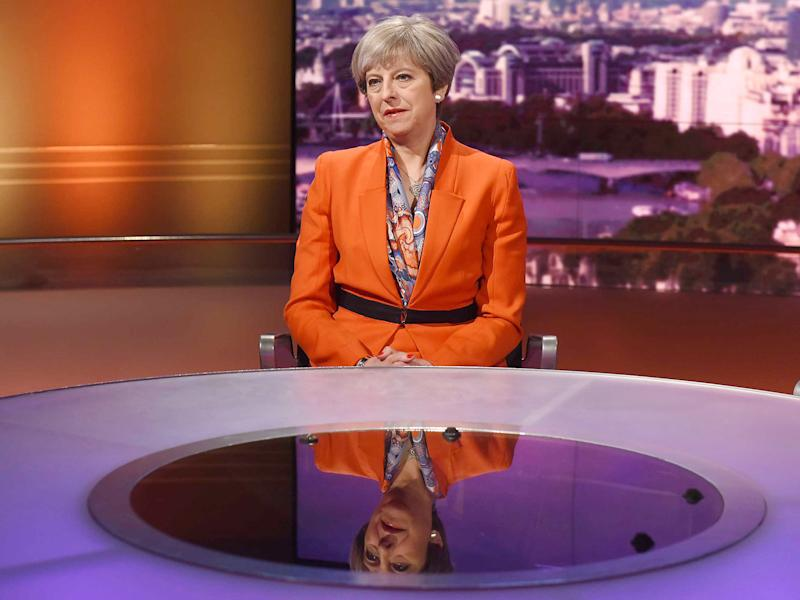 The Prime Minister's refusal to engage in a televised debate with Jeremy Corbyn may be denting her in the polls: EPA/BBC