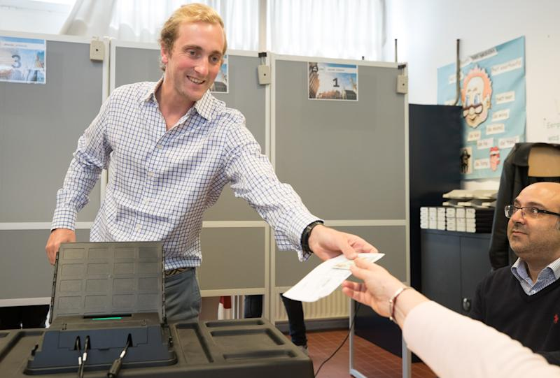Prince Joachim pictured at a polling station in Laken/Laeken, Brussels, Sunday 26 May 2019. Belgium holds regional, federal and European elections on Sunday. BELGA PHOTO BENOIT DOPPAGNE (Photo credit should read BENOIT DOPPAGNE/AFP via Getty Images)