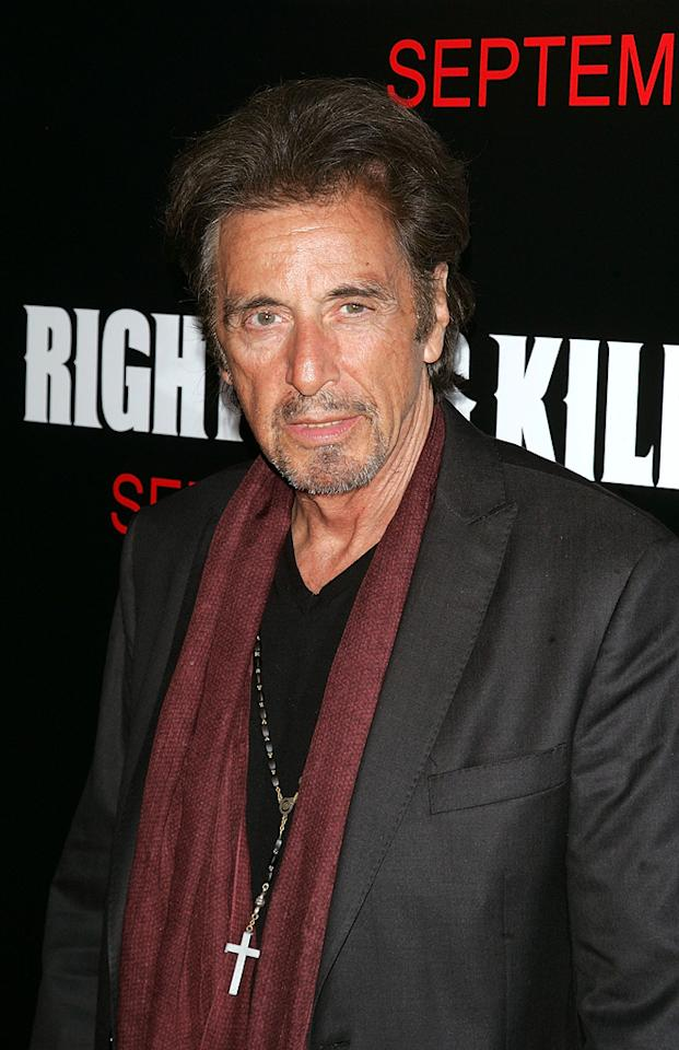 """<a href=""""http://movies.yahoo.com/movie/contributor/1800017701"""">Al Pacino</a> at the New York premiere of <a href=""""http://movies.yahoo.com/movie/1809921377/info"""">Righteous Kill</a> - 09/10/2008"""