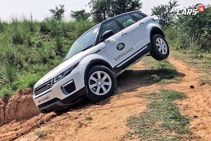Range Rover Evoque in action at the Land Rover Experience Tour. (Photo: Siddharth Safaya/News18.com)