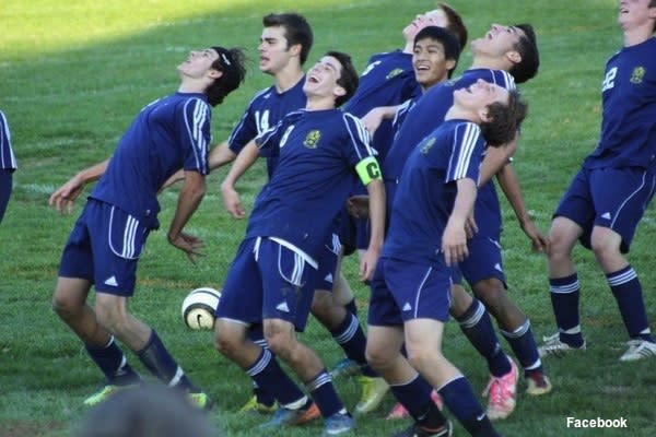 Perry Hall boys soccer performs 'The Bernie' dance after a win