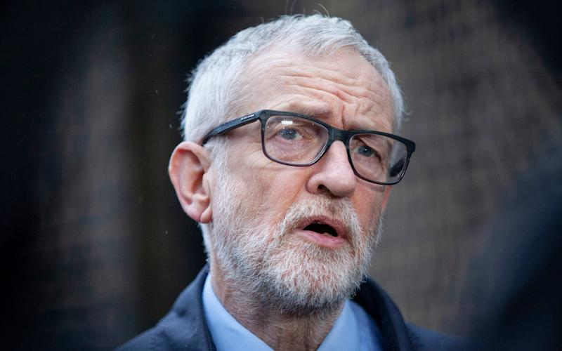 Jeremy Corbyn was pictured at a dinner party for nine people - PA