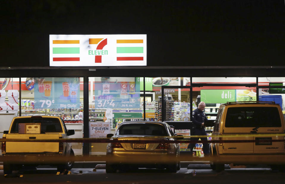 The series of robberies and stabbings appeared to be random, police said (Picture: AP/Alex Gallardo)