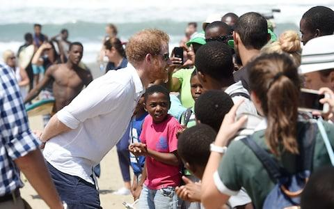 Prince Harry in Durban, South Africa - Credit: Rex
