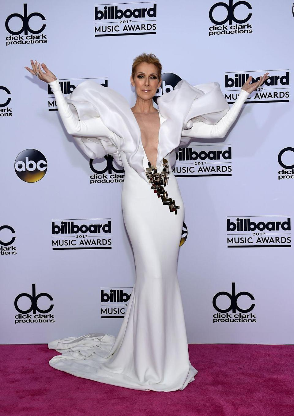 <p>Going for the wow factor, the singer looked like an actual couture angel in a Stéphane Rolland Couture gown at the Billboard Music Awards. </p>