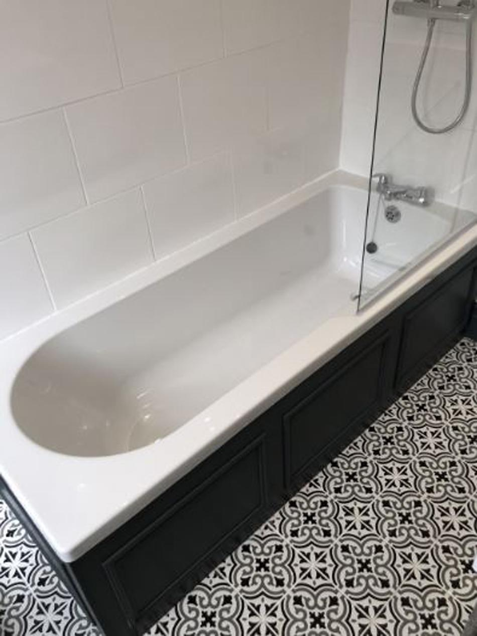 The bathroom has been newly refurbished by the interior designer. (PA Real Life)