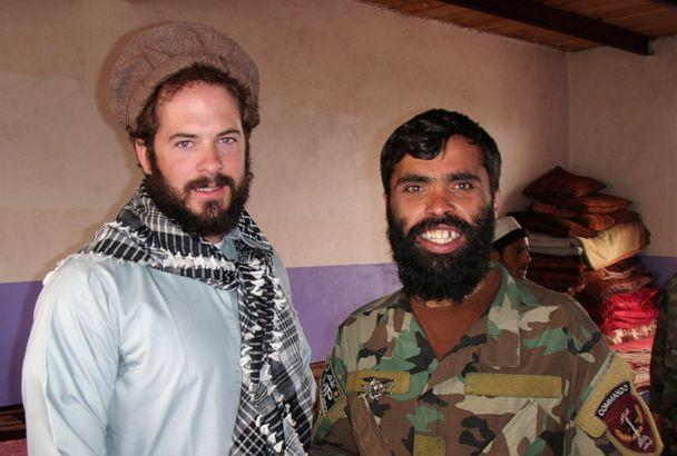 PHOTO: Then-Sgt. Matthew Williams assigned to 3rd Special Forces Group (Airborne), stands with an Afghanistan commando sergeant major, after conducting a local meeting with the key leader of a village outside of Camp Morehead, Afghanistan in 2011. (Courtesy of U.S. Army Master Sgt. Matthew Williams)