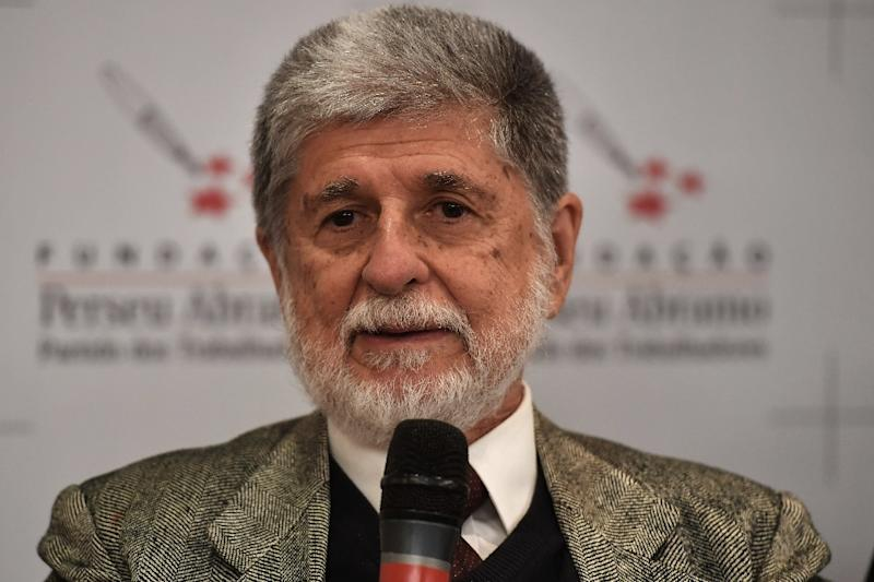 "Former foreign minister Celso Amorim warned that Brazil was embarking on ""crusades"" that went against its previous diplomacy (AFP Photo/NELSON ALMEIDA)"