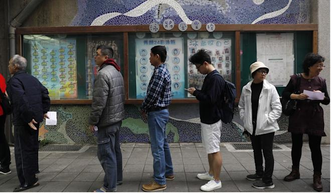 The vote in Taiwan comes at a time of rising tensions between Taipei and Beijing. Photo: EPA-EFE