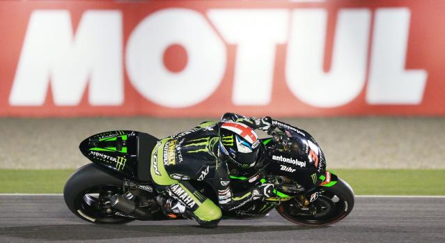 Yamaha Tech 3 MotoGP rider Bradley Smith of Britain races during a free practice session at the MotoGP World Championship at the Losail International circuit in Doha March 22, 2014. REUTERS/Mohammed Dabbous (QATAR - Tags: SPORT MOTORSPORT)