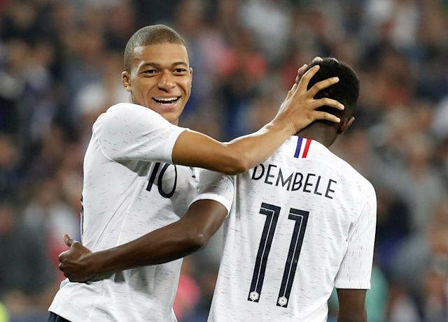 France's Kylian Mbappe and Ousmane Dembele are two of the top three players under the age of 23 at the 2018 World Cup. (Getty)