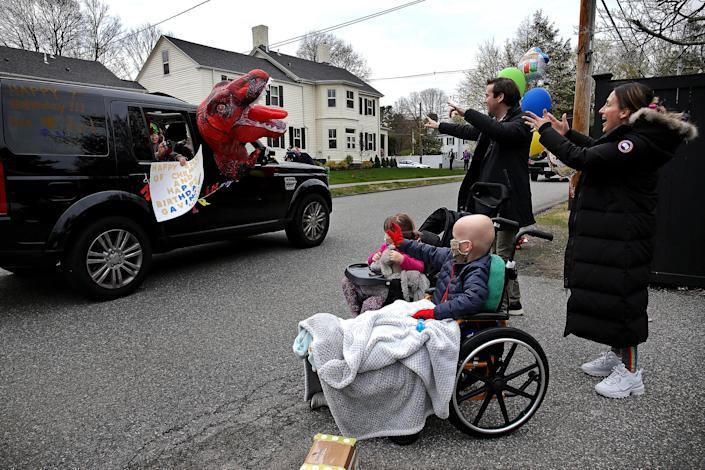 Image: Gavin Brennan and his family (Barry Chin / Boston Globe via Getty Images file)