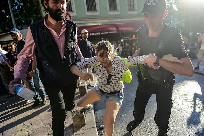 Turkish authorities on Saturday banned transsexual rights activists from holding a planned march in Istanbul, the country's largest city, but organisers vowed to press ahead with the Trans Pride March