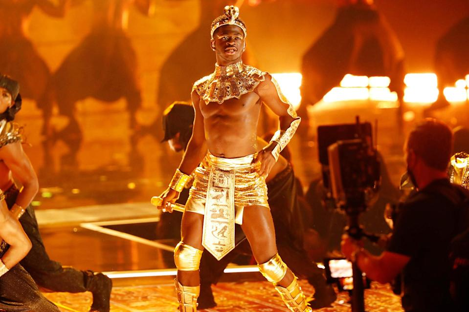 <p>Lil Nas X performs onstage at the BET Awards on June 27. </p>
