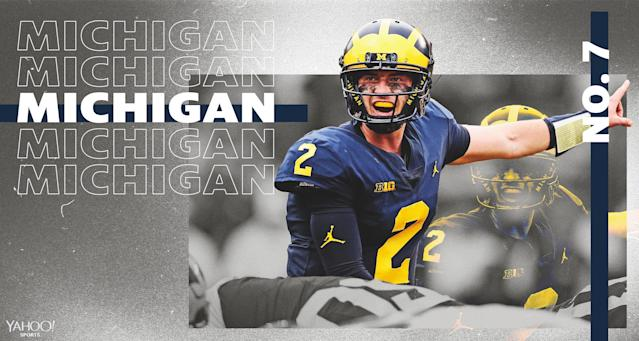 Is this the year that Michigan makes the College Football Playoff? Or even the Big Ten title game? (Amber Matsumoto/Yahoo Sports)