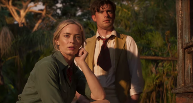 Emily Blunt and Jack Whitehall in a still from <i>Jungle Cruise</i>. (Disney)