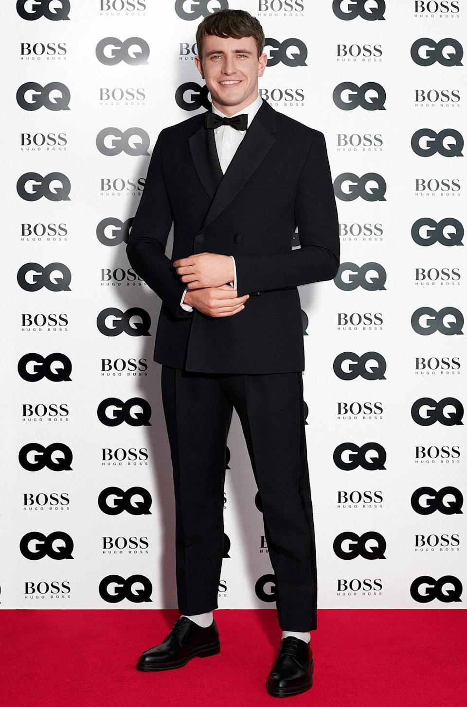 <p>Actor Paul Mescal accepts the Hugo Boss Breakthrough Actor Award at the GQ Men of The Year Awards on Thursday in London, England. </p>
