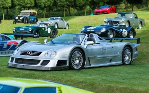 2002 Mercedes-Benz CLK GTR Roadster at Heveningham Hall concours 2017