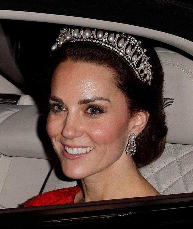Kate Middleton, after attending the annual Diplomatic Reception on Dec. 8, 2016. (Photo: Max Mumby/Indigo/Getty Images)