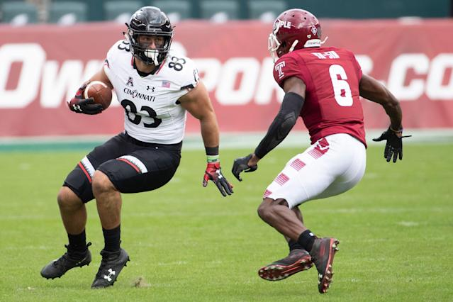 Temple cornerback Rock Ya-Sin facing Cincinnati. (AP Photo)