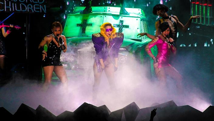 """<ul> <li><strong>Net worth: </strong>$320 million</li> </ul> <p>Lady Gaga released her debut album, """"The Fame,"""" in 2008 and it quickly rose to No. 2 on the Billboard 200 chart in the United States. Since then, she also has been a record producer, a fashion designer and an actress. In 2019, she won an Oscar for best original song for """"Shallow"""" from """"A Star is Born,"""" in which she also had a starring role.</p> <p><em><strong>Just Like Us: <a href=""""https://www.gobankingrates.com/net-worth/celebrities/stars-shop-costco-target-walmart/?utm_campaign=1120407&utm_source=yahoo.com&utm_content=12&utm_medium=rss"""" rel=""""nofollow noopener"""" target=""""_blank"""" data-ylk=""""slk:45 Stars Who Shop at Costco, Target and Walmart"""" class=""""link rapid-noclick-resp"""">45 Stars Who Shop at Costco, Target and Walmart</a></strong></em></p> <ul>  </ul> <p><small>Image Credits: Matteo Chinellato / Shutterstock.com</small></p>"""