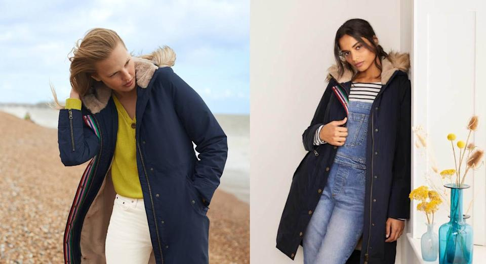 Boden's fastest selling coat of all time is finally back in stock. (Boden)