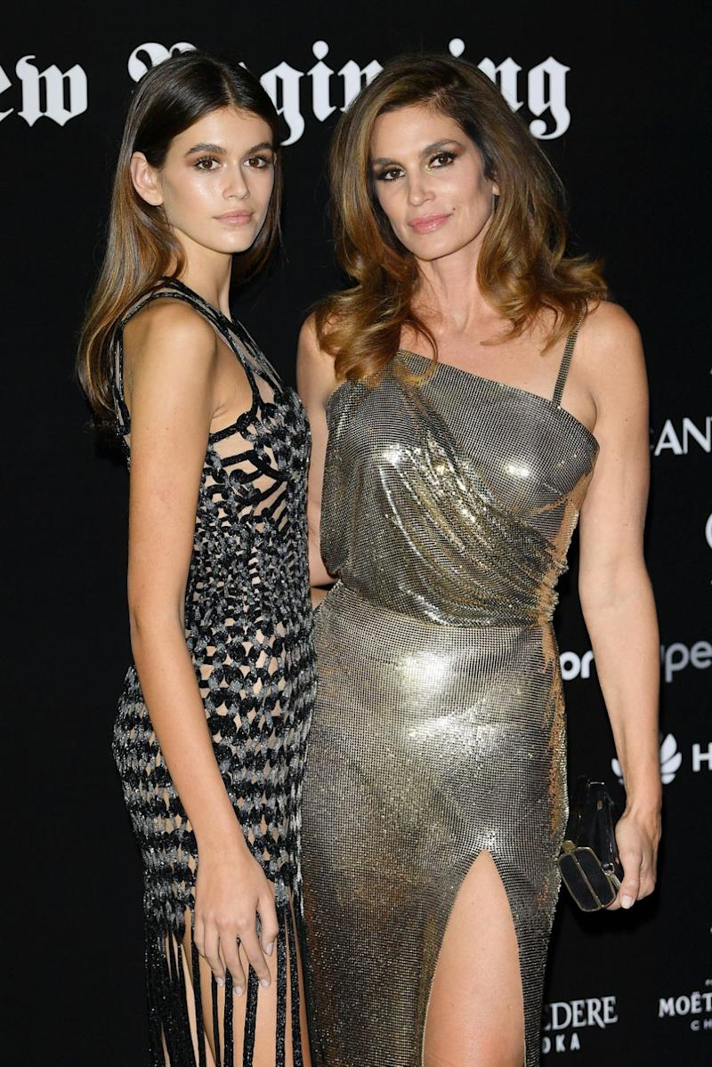 Kaia takes after her mum, supermodel Cindy Crawford. Photo: Getty