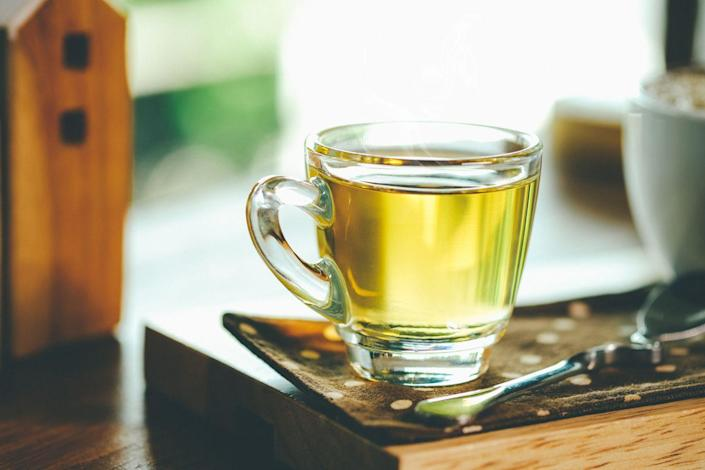 """<p>Adding tea to your a.m. can help support a healthy heart. Research shows that <a href=""""https://www.goodhousekeeping.com/health/diet-nutrition/a43325/green-tea-benefits/"""" rel=""""nofollow noopener"""" target=""""_blank"""" data-ylk=""""slk:drinking green tea regularly may lower your LDL (""""bad"""") cholesterol levels"""" class=""""link rapid-noclick-resp"""">drinking green tea regularly may lower your LDL (""""bad"""") cholesterol levels</a>. Studies have also found that people with a habit of drinking black tea have a lower risk of developing heart disease. Tea is a major source of naturally occurring, heart-healthy flavonoids, and taking in a daily dose of at least 200 to 500 mg of these flavonoids can help keep your ticker ticking efficiently. </p><p><strong>LAB TRICK</strong>: We love GH Nutritionist Approved <a href=""""https://www.amazon.com/Lipton-Green-Percent-Natural-count/dp/B0042IMPTU"""" rel=""""nofollow noopener"""" target=""""_blank"""" data-ylk=""""slk:Lipton Tea"""" class=""""link rapid-noclick-resp"""">Lipton Tea</a>, which contains 150 to 170 mg of flavonoids per serving, in the unsweetened regular black and green versions. And contrary to what you may have heard, tea does not dehydrate you, but rather counts toward your healthy water-consumption goals. Proper hydration is important to circulatory functions, so sip away and embrace the day.</p>"""
