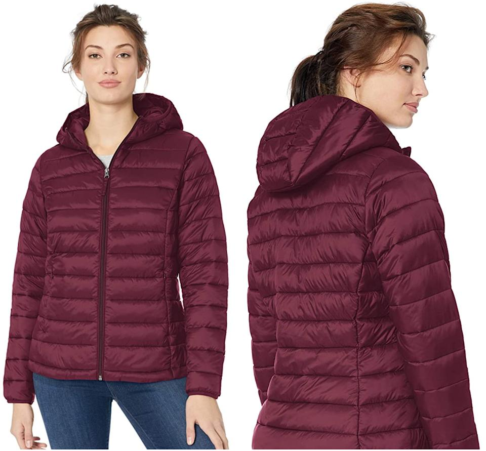 This puffer jacket packs neatly into an included carrying bag. (Image via Amazon)