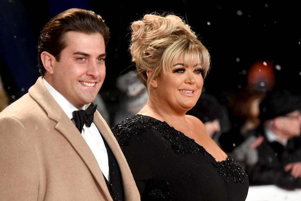 LONDON, ENGLAND - JANUARY 22:  James Argent and Gemma Collins attends the National Television Awards held at the O2 Arena on January 22, 2019 in London, England. (Photo by Stuart C. Wilson/Getty Images)