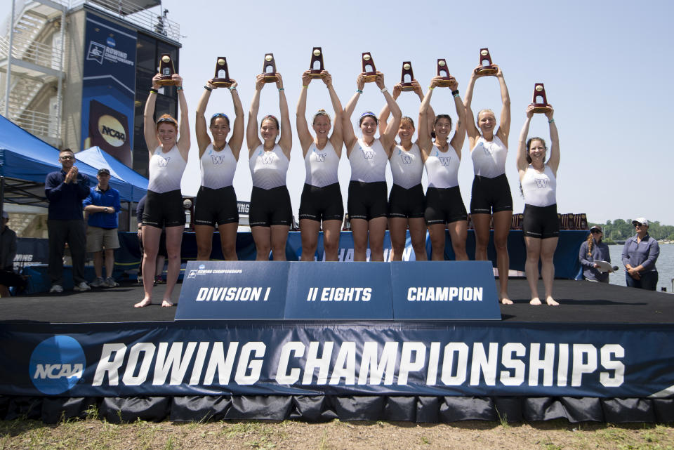 Best sport: women's rowing (national champion). Trajectory: steady. The Huskies reversed two years of sliding down the rankings, maintaining a spot in the Top 30. Washington has become a rowing powerhouse, winning two of the last three national titles, while also succeeding in a number of other women's sports: softball, tennis, cross country and volleyball. Men's basketball is having a return to relevance as well.