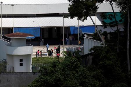 Migrants are seen inside the Siglo XXI immigration facility in Tapachula