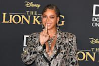 "Beyonce, shown here in 2019 at the world premiere of Disney's ""The Lion King,"" is the top Grammys nominee"