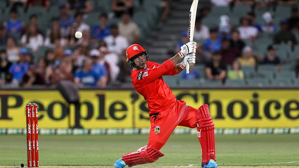 Mohammed Nabi guided the Melbourne Renegades to a much needed victory on Friday night. (Photo by Peter Mundy/Speed Media/Icon Sportswire via Getty Images)