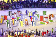 <p>TOKYO, JAPAN - JULY 23: Performs in action during the Opening Ceremony of the Tokyo 2020 Olympic Games at Olympic Stadium on July 23, 2021 in Tokyo, Japan. (Photo by Maja Hitij/Getty Images)</p>