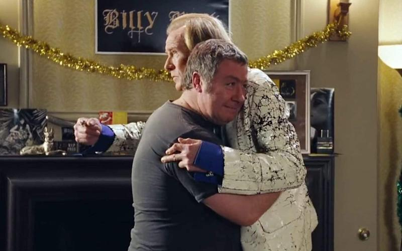 Bill Nighy and Gregor Fisher in Love Actually