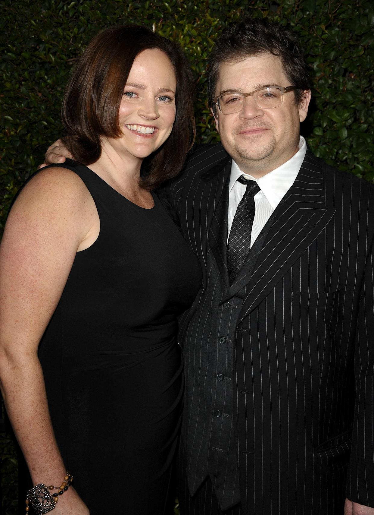 Michelle McNamara and Patton Oswalt attend the <em>Young Adult</em> Los Angeles premiere in December 2011. (Photo: Getty Images)