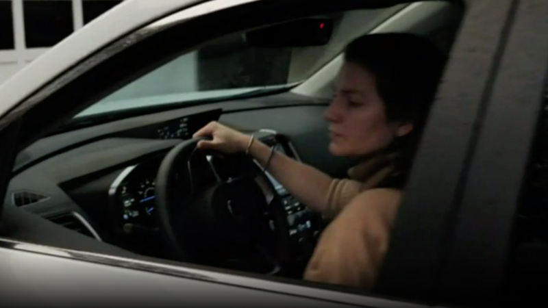Anne Sacoolas was recently pictured driving (Picture: ITV)