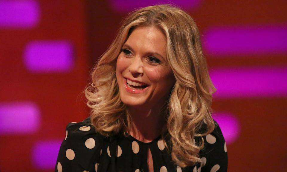Emilia Fox during filming for the Graham Norton Show at BBC Studioworks in London, to be aired on BBC One on Friday evening. (Photo by Isabel Infantes/PA Images via Getty Images)